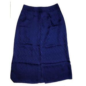 NWOT Reformation Blue Silk Skirt 😍